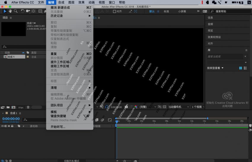 Adobe After Effects CC 2018 v15.1.2 for Mac中文破解版 视频处理软件